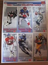 McDonalds Limited Edition: 1993 NFL Gameday Collector Cards Set of 3 Mint