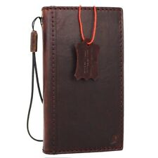 genuine Natural leather Case for iPhone 7 book wallet cover classic slim Davis R