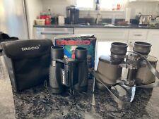 Vintage Kmart Focal Binoculars 7x35 Siam Cat Optics & Compact Tasco w/ Case