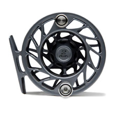 New ListingHatch Outdoors Fly Fishing 2 Plus 2+ Fly Reel Gray Black Large Arbor Gen 2 La