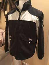 Gotcha Men's L Athletic Windbreaker Golf Hiking Jacket 80's 90's Black / Gray