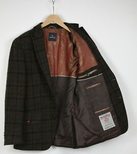 HARRIS TWEED X MARIO BARUTTI Men (UK) 42R or ~LARGE Checked Wool Blazer 36629_G
