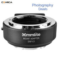 Commlite ENF-E1 PRO AF Adapter For Nikon F Lens To Sony A9 A7M2 A7R2 6500 Camera