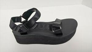 Teva Flatform Universal Sandals, Black, Women's 6 M