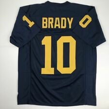 New TOM BRADY Michigan Blue College Custom Stitched Football Jersey Men's XL