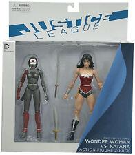 Il nuovo 52 Action Figure 2-Pack Wonder WOMAN CONTRO KATANA UK Venditore