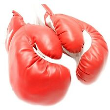 AGE 6-8 KIDS 6 OZ BOXING GLOVES YOUTH PRACTICE TRAINING MMA Faux Leather Red