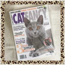 Collectible Edition Cat Fancy Magazine June 2014 Chartreux & Havana Brown + Cell
