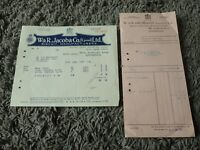 Vintage 1927 W&R JACOB & Co Receipt Biscuit Manufacturers- Kitchen Display Item?