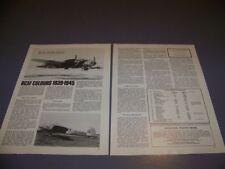 VINTAGE..RCAF COLORS 1939-45..HISTORY/PHOTOS/DETAILS..RARE! (117Q)