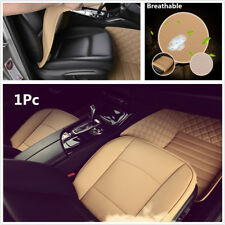 Comfortable Beige PU Leather Car Seat Protector Seat Cover Interior Accessories
