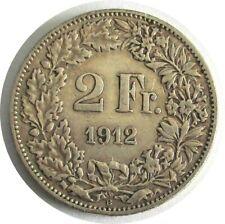 Schweiz 2 Franken 1912 B,Helvetia, Silber