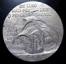 """AGE OF DISCOVERIES /CARRACK/TOWER OF BELEM / TIN MEDAL BY BERARDO / 3.5"""" / N118"""