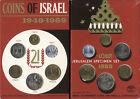 ISRAELE 1969 JERUSALEM SPECIMEN SET _ SERIE DIVISIONALE UFFICIALE 1969 6 MONETE