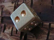 Retro Brass Handmade Solid Dice Decorate Mahjong Dice Unique Gift