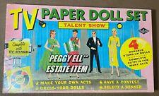 "A BUILT-RITE TOY ""TV PAPER DOLL SET TALENT SHOW"" w/STAGE & MC 4 DOLLS SET #359"