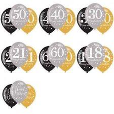 Palloncini compleanno adulti marca Amscan per feste e party oro