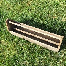 Antique Carpenter Farm Tool Box Caddy