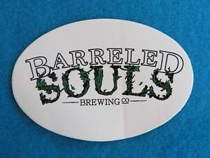 BEER Collectible STICKER ~ BARRELED SOULS Brewing Co ~ Saco, MAINE Breweriana