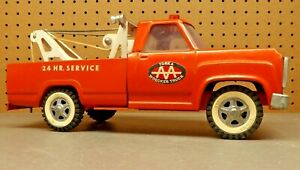 "Vintage Tonka  ""ORANGE"" DODGE AAA 24HR Tow Truck Wrecker ~"