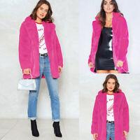 Fashion Womens Winter  Warm Casual Long Faux Fur Coat Jacket Parka Outerwear