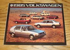 Original 1985 Volkswagen VW Full Line Sales Brochure 85 Jetta Golf Vanagon