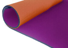 neoprene bifoderato 35x40 - spessore 3 mm - arancio/viola