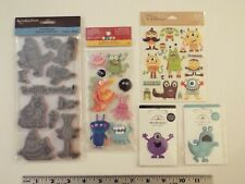 5 LOT-NEW-RECOLLECTIONS MONSTER STAMPS-STICKERS-DOODLE-POPS-LIFE'S OCCASIONS**