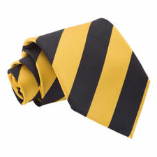 Cravates, nœuds papillon et foulards jaunes en microfibre pour homme