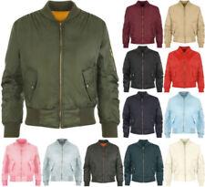 Patternless Biker Jacket Regular Size Coats, Jackets & Waistcoats for Women