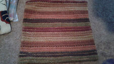 """PARK DESIGNS STRIPED PATTERN 18"""" Square Hooked Pillow Cover NEW"""