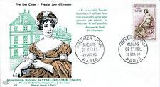FRANCE FDC - 358 1269 2 MADAME DE STAEL 22 10 1960