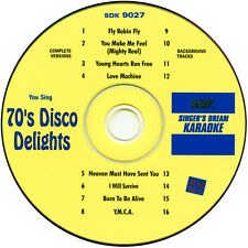 New listing karaoke Cd+G 70's Disco Singer's Dream 9027 with Background tracks New In Sleeve
