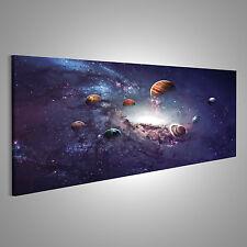 Sterne Galaxie Weltall Planeten Bild auf Leinwand BGB-Pano