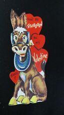Vintage Donkey Valentine Card c. 1950s