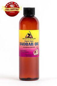 BAOBAB OIL UNREFINED ORGANIC EXTRA VIRGIN COLD PRESSED PRIME FRESH PURE 4 OZ