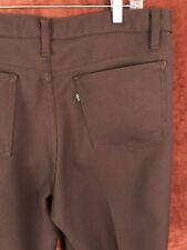 Vintage Levi's 1980s Brown Polyester Pants Men's Size 38 x 31