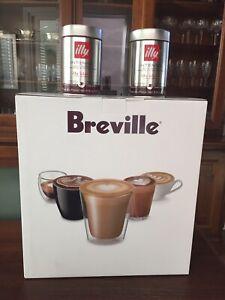 Breville The Bambino Espresso Machine + 2 Cans Illy Ground Espresso Coffee