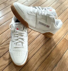 Classic Reebok Workout Plus CN2126 White Gum Mens Shoes Sneakers Size US 8.5