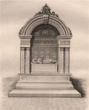 Tomb of Jean Albert in Cracow (Krakow). Poland 1835 old antique print picture