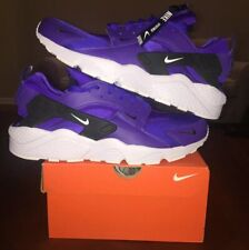 b113c2a0e5e5 Nike Men s Air Huarache Run Premium Zip Indigo Purple BQ6164-400 12 Burst  White