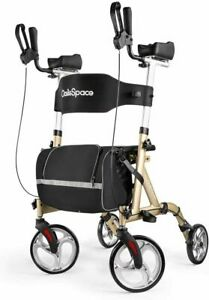 NEW 2021 OasisSpace Lightweight Upright Walker Stand up Rollator - Champagne