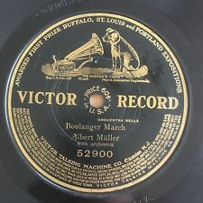 """Rare German 78rpm [1908] """"ANGEL"""" from Berlin """"Boulanger March"""" VICTOR 52900"""