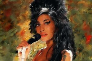 Amy Winehouse painting acrylic on canvas by Brian Tones
