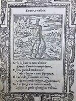 Bouclier d'Agamemnon 1551 Lion Iliade Homer Rarissime Gravure sur Bois Cheval