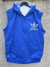Veste sans manche / blouson ADIDAS réversible TREFOIL bleu blanc jacket jacke XL