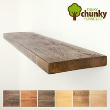 Rustic Floating Shelves Solid Chunky Wood Shelf With Wall Brackets 9x1.5
