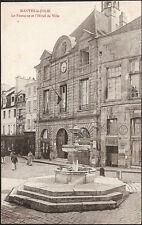 MANTES la JOLIE (78) - La Fontaine et l'Hôtel de Ville