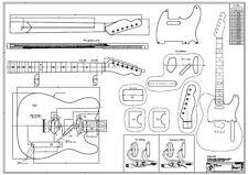 '53 Tele Zeichnung / Bauplan - f. Gitarrenbau m.Tonholz w. Fender Telecaster ESP