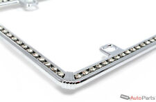 Chrome Diamond Bling Custom License Plate Frame for Auto-Car-Truck Front-Rear